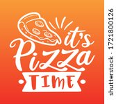 it's pizza time with slice... | Shutterstock .eps vector #1721800126