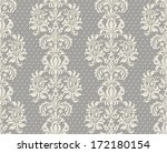 Ornate damask background - stock vector