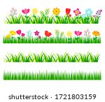 Garden  And Forest Flowers Set  ...