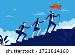 teamwork success   team of... | Shutterstock .eps vector #1721814160