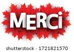 autumn paper thanks letters... | Shutterstock .eps vector #1721821570