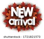 autumn 3d paper new arrival... | Shutterstock .eps vector #1721821573