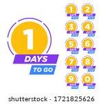 countdown left days banner....   Shutterstock .eps vector #1721825626