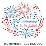bastille day design template... | Shutterstock .eps vector #1721827030