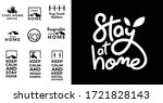 social distance calligraphy... | Shutterstock .eps vector #1721828143