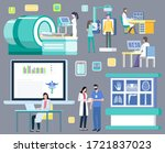 diagnostics of diseases vector  ... | Shutterstock .eps vector #1721837023