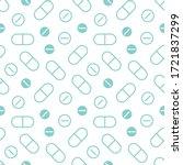 vector medical seamless pattern ... | Shutterstock .eps vector #1721837299