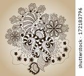 brown sketch art object on beige | Shutterstock .eps vector #172183796