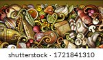 russian food hand drawn doodle... | Shutterstock .eps vector #1721841310