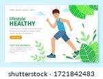 website concept of a healthy...   Shutterstock .eps vector #1721842483
