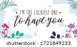 love quotes i'm the luckiest... | Shutterstock .eps vector #1721849233