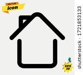 home icon   line design. house...   Shutterstock .eps vector #1721853133