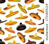 Sombrero Hats Seamless Pattern. ...