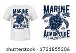 sea turtle t shirt print mockup ... | Shutterstock .eps vector #1721855206