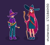 Wizard And Witch Cartoon...