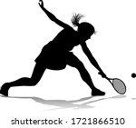 A Tennis Player Woman Female...
