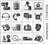 customer service icons  call... | Shutterstock .eps vector #172187426
