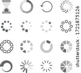 loading symbol icon set vector... | Shutterstock .eps vector #1721875126