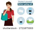 new normal. covid 19 prevention ...   Shutterstock .eps vector #1721875303