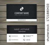 modern minimalist business card ... | Shutterstock .eps vector #1721880433