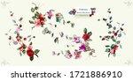 floral design. illustration of... | Shutterstock .eps vector #1721886910