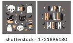 halloween hand drawn vector... | Shutterstock .eps vector #1721896180