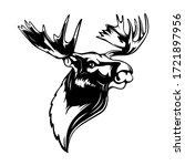 elk head. reindeer head... | Shutterstock .eps vector #1721897956
