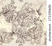 vintage vector seamless... | Shutterstock .eps vector #172190600