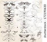 vector set of calligraphic... | Shutterstock .eps vector #172190630