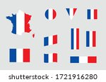 french flag icon different... | Shutterstock .eps vector #1721916280