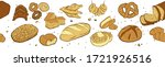 fresh bread banner. seamless... | Shutterstock .eps vector #1721926516