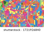 Colorful vector map of Beaverton, Oregon, USA. Art Map template for selfprinting wall art in landscape format.