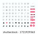 set of 72 social media icons...