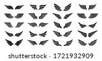 set of black wings icons. wings ... | Shutterstock .eps vector #1721932909