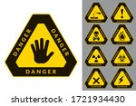 warning and danger. triangular... | Shutterstock .eps vector #1721934430