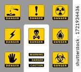 warning and danger. square... | Shutterstock .eps vector #1721934436