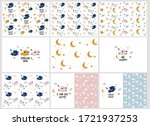 collection vector  pattern with ...   Shutterstock .eps vector #1721937253
