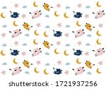 vector  pattern with cute sheep ...   Shutterstock .eps vector #1721937256