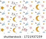 vector  pattern with cute sheep ...   Shutterstock .eps vector #1721937259