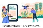 smart farming agricultural...   Shutterstock .eps vector #1721944696