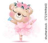 Cute Bear Ballet Dance With...