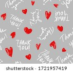 hand writing thank you text... | Shutterstock .eps vector #1721957419