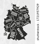germany map with states. poster ... | Shutterstock .eps vector #1721957929