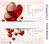 abstract glossy heart on white  ... | Shutterstock .eps vector #172195913