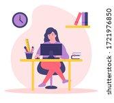 stay home concept illustration. ... | Shutterstock .eps vector #1721976850