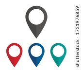 map pointer flat icon isolated... | Shutterstock .eps vector #1721976859
