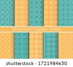 set of seamless line patterns.... | Shutterstock .eps vector #1721984650
