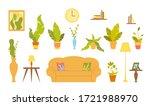 set of furniture for living... | Shutterstock .eps vector #1721988970