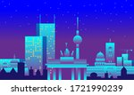 night berlin drawn with... | Shutterstock .eps vector #1721990239