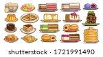 vector set of assorted desserts ... | Shutterstock .eps vector #1721991490